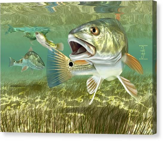 Fisherman's Post Redfish Canvas Print