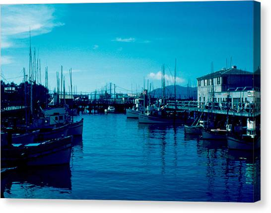 Fisherman's Wharf 1955 Canvas Print by Cumberland Warden