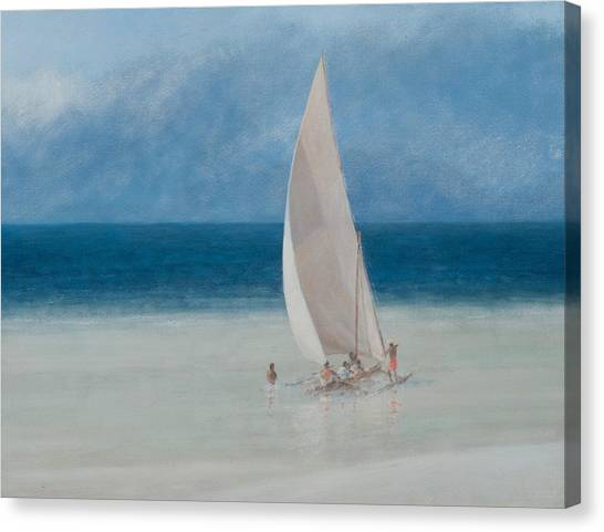 Kenyan Canvas Print - Fishermen Kilifi by Lincoln Seligman