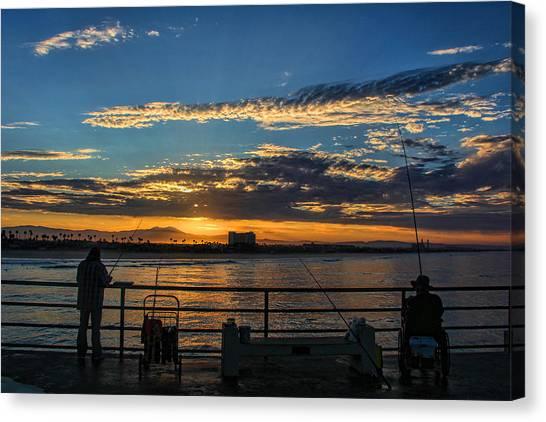 Fishermen Morning Canvas Print