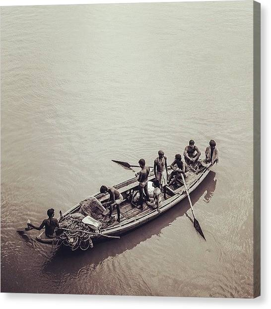 Ganges Canvas Print - #fishermen On #river #ganges In #indian by Dhruv 📷