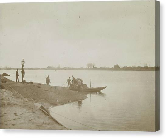 Fishermen On The Bank Of A River, Henry Pauw Van Wieldrecht Canvas Print by Artokoloro