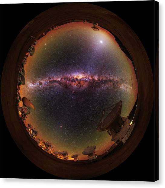 Atacama Desert Canvas Print - Fisheye View by Babak Tafreshi