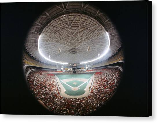 Houston Astros Canvas Print - Houston Astrodome by Retro Images Archive