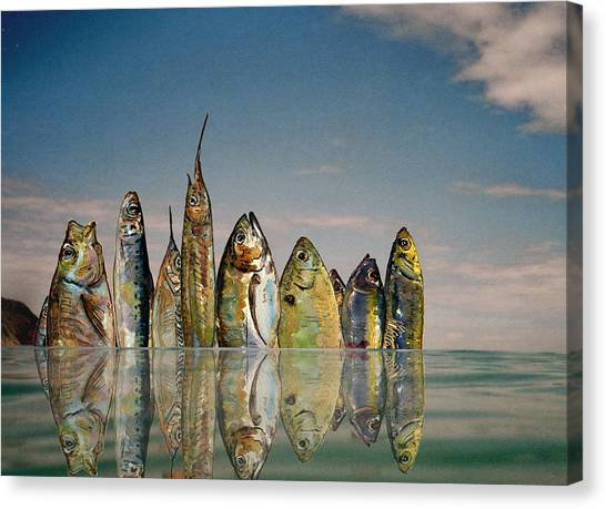 Manhattan Skyline Canvas Print - Fishhattan by Juan  Bosco