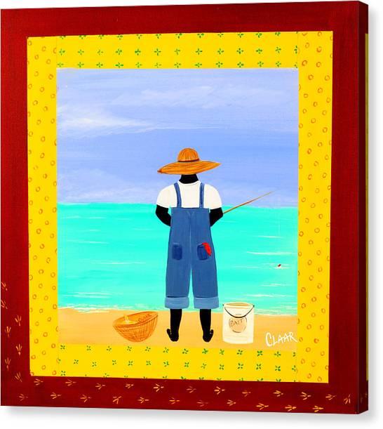 Fishin Canvas Print by Samantha Claar