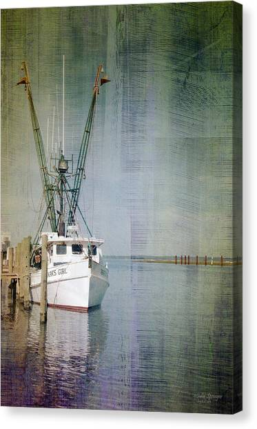Fishing Boat In Chincoteague Canvas Print