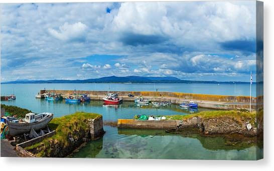 Waterford Canvas Print - Fishing Boats At A Harbor, Helvick by Panoramic Images