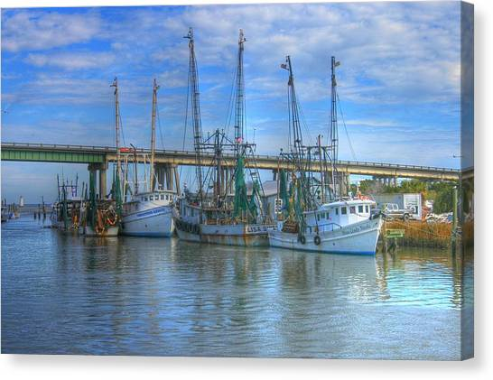 Fishing Boats At The Dock Canvas Print