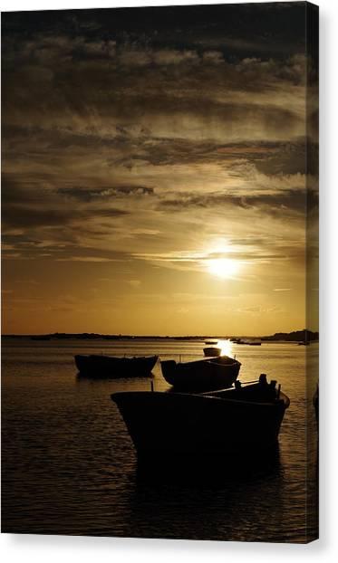 Fishing Boats In Cacela Velha Canvas Print
