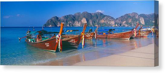 Phi Phi Island Canvas Print - Fishing Boats In The Sea, Phi Phi by Panoramic Images