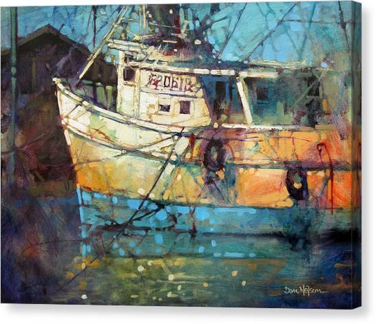 Fishing Colors Canvas Print