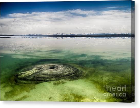 Fishing Cone Geyser Canvas Print
