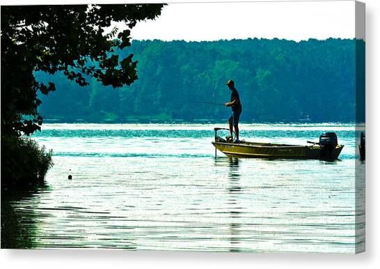 Fishing Crab Orchard Lake Canvas Print