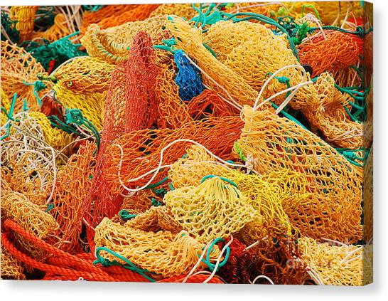 Fishing Float Nets Canvas Print