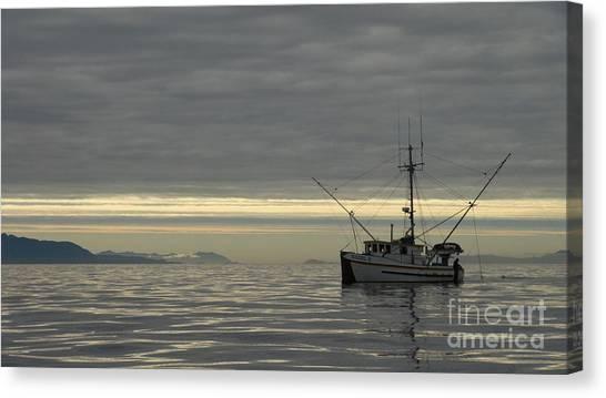 Fishing In Alaska Canvas Print