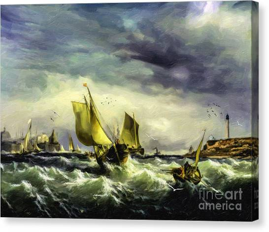 Canvas Print - Fishing In High Water by Lianne Schneider