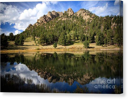 Fishing In Solitude Canvas Print