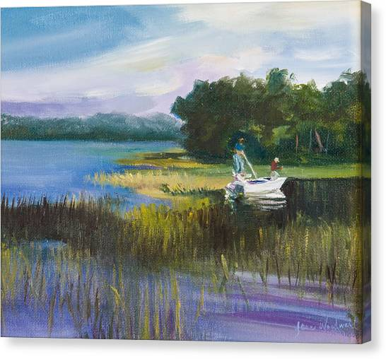 Canvas Print - Fishing by Jane Woodward