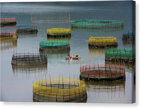 Fishing Life Canvas Print by Bongok Namkoong