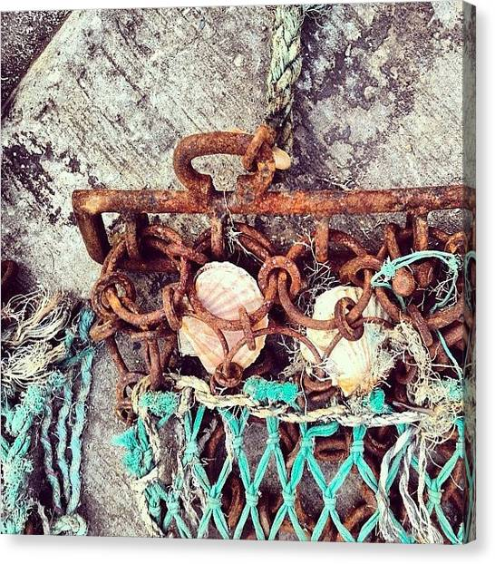 Fishing Canvas Print - Fishing #nicsquirrell #fishing #net by Nic Squirrell