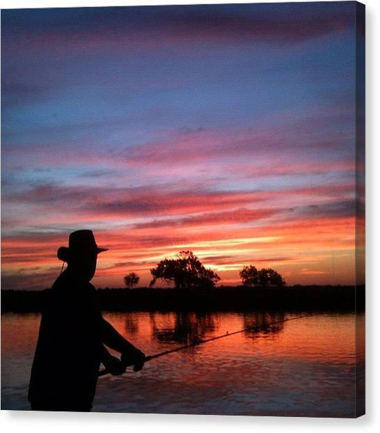 Bayous Canvas Print - Fishing On The Bayou by Suzanne Clark