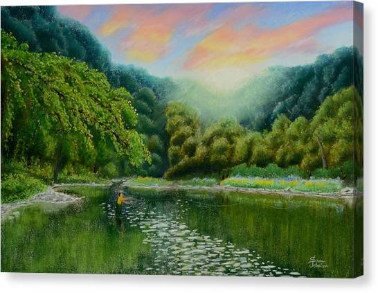 Fishing On The Dix Canvas Print