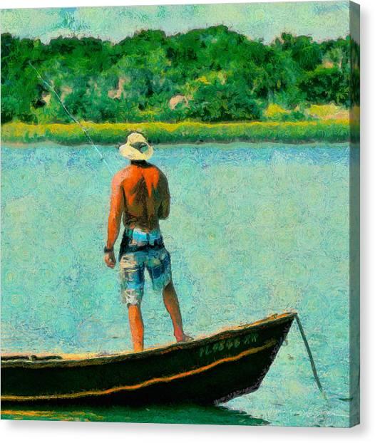 Fishing On The Matanzas Canvas Print