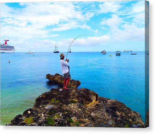 Jet Skis Canvas Print - Fishing Paradise by Carey Chen