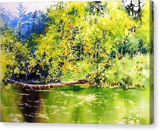 Fishing Pond Canvas Print