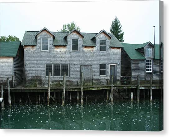 Smokehouses Canvas Print - Fishing Shanties by Michele Morse