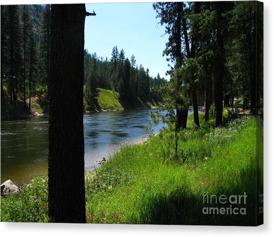 Fishing Spot 1 Canvas Print by Greg Patzer
