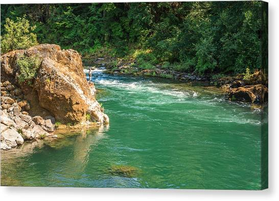 Fishing The River Canvas Print