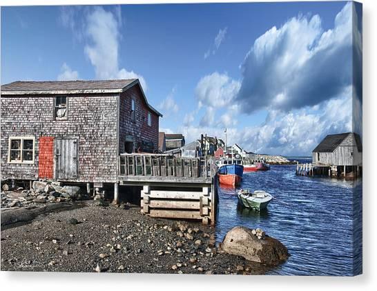 Fishing Town Canvas Print by Renee Sullivan