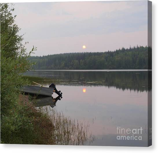 Fishing Tranquility Canvas Print