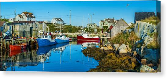 Fishing Village Canvas Print