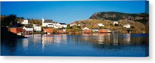 Newfoundland And Labrador Canvas Print - Fishing Village On An Island, Salvage by Panoramic Images