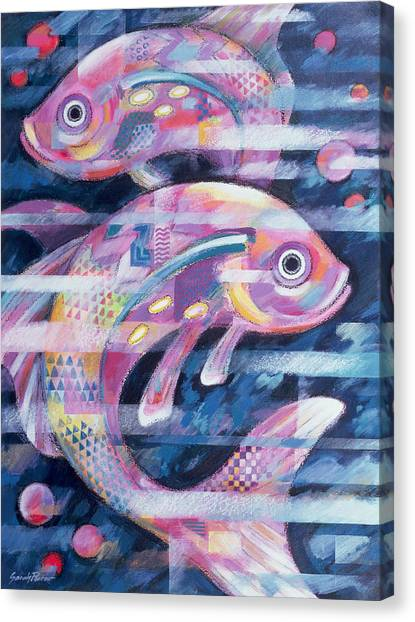 Good Luck Canvas Print - Fishstream by Sarah Porter