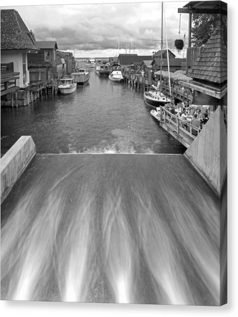 Northern Michigan Canvas Print - Fishtown At Leland by Twenty Two North Photography