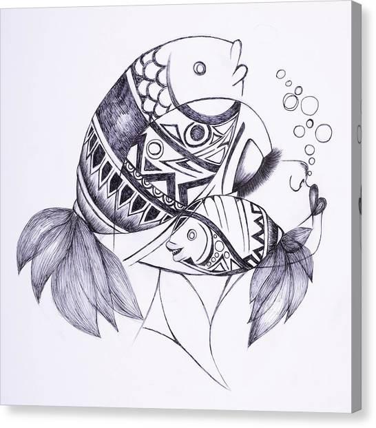 Fishy Canvas Print by Chibuzor Ejims