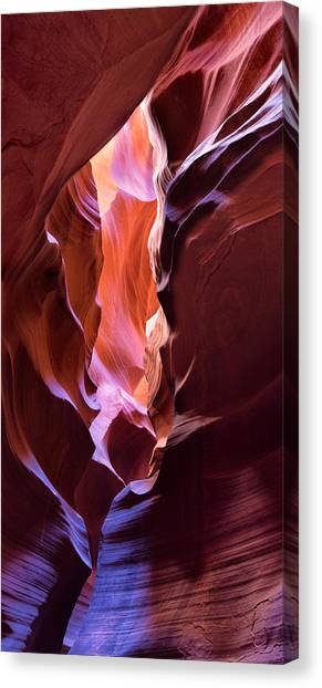 Canvas Print featuring the photograph Fissure by Brad Brizek