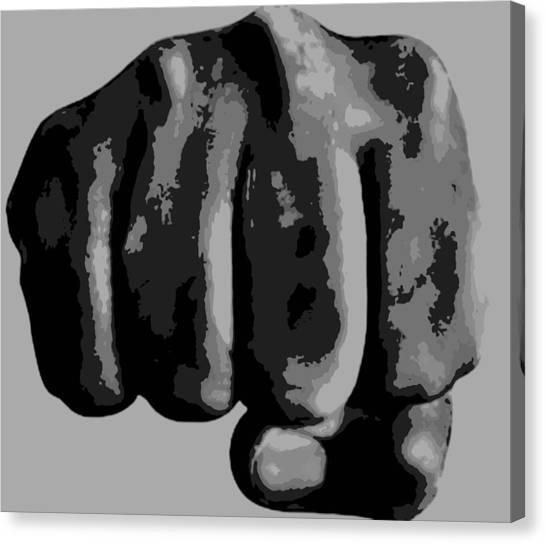 Taekwondo Canvas Print - Fist by James Davis