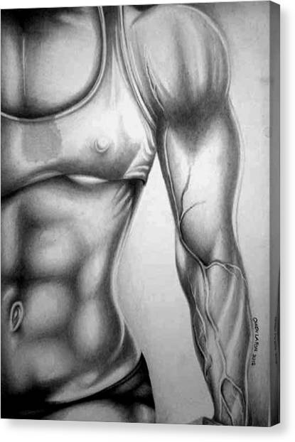 Fitness Model 3 Canvas Print