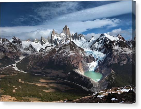 Mountain Ranges Canvas Print - Fitz Roy by Andrew Waddington