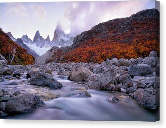 Argentinian Canvas Print - Fitz Roy Under Twilight by John Fan