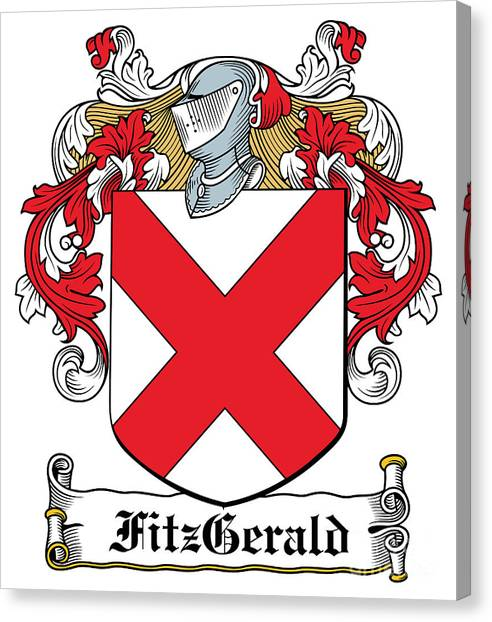 Fitzgerald Coat Of Arms Irish Canvas Print by Heraldry