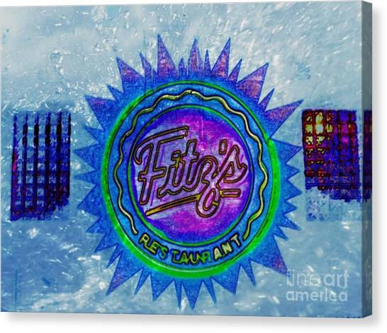 Fitz's Inverted With A Splash Canvas Print