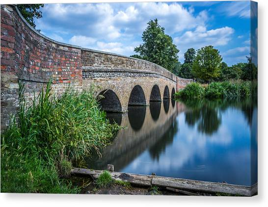 Canvas Print featuring the photograph Five Arches Bridge. by Gary Gillette