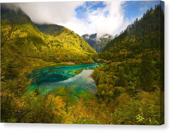 Five Flower Lake Canvas Print