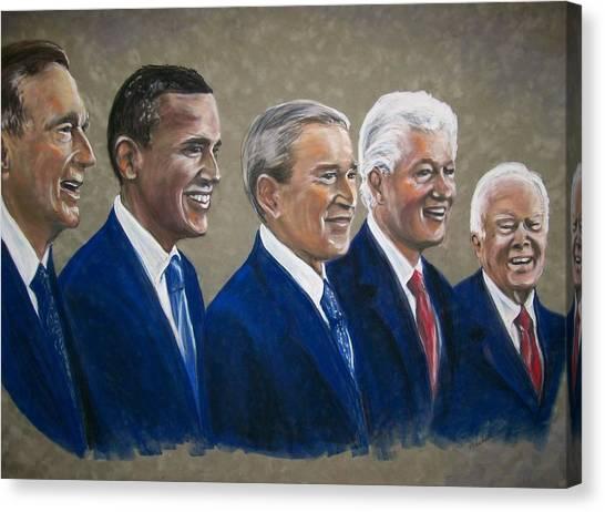 Five Living Presidents 2009 Canvas Print